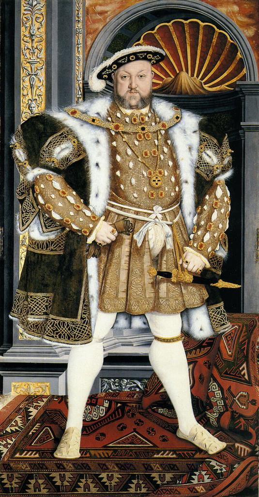 King Henry VII in 15th century rocking some fancy knee-highs