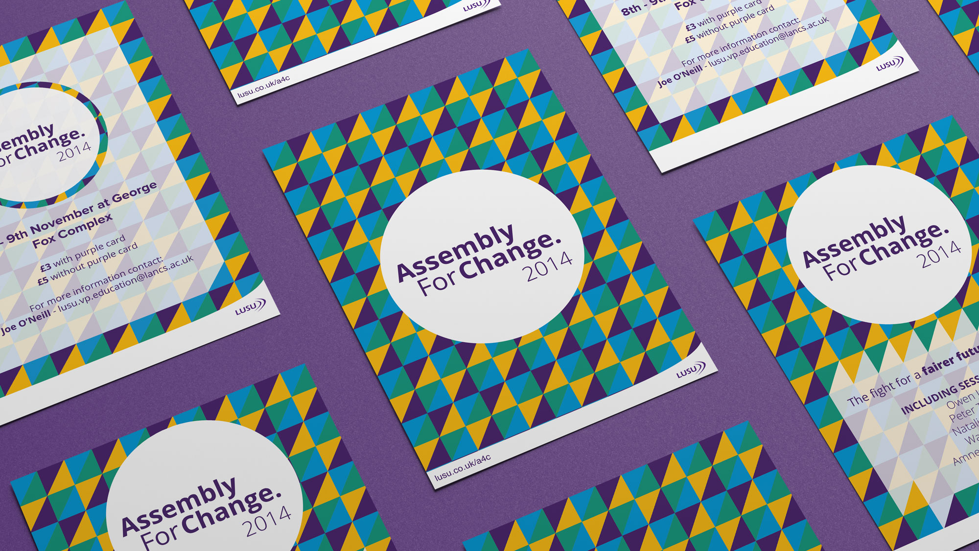 ASSEMBLY FOR CHANGE  BRAND IDENTITY & PRINT