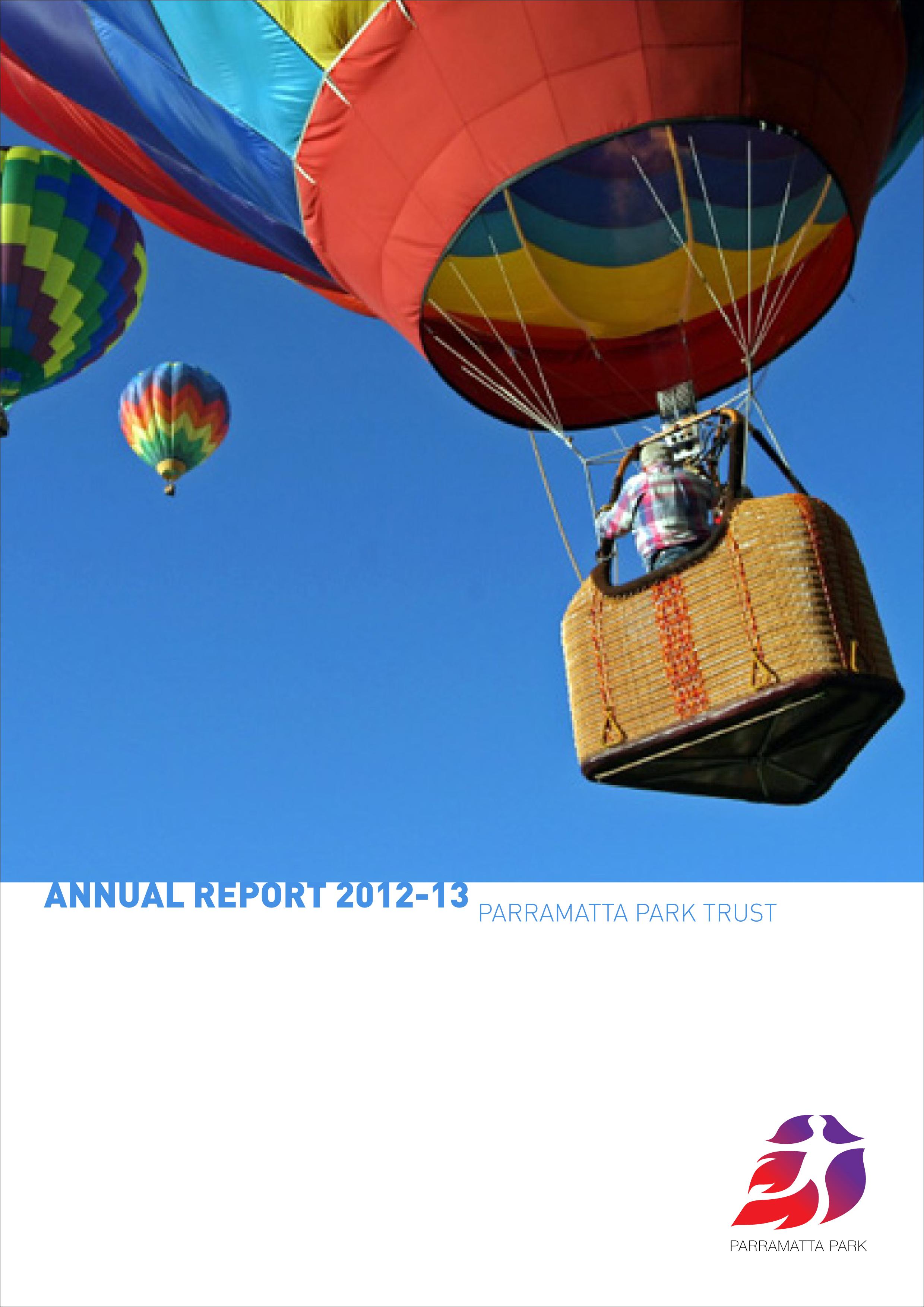 Parramatta Park Annual Report Cover