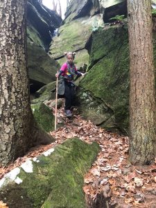 Hiking at Broken Rock Falls