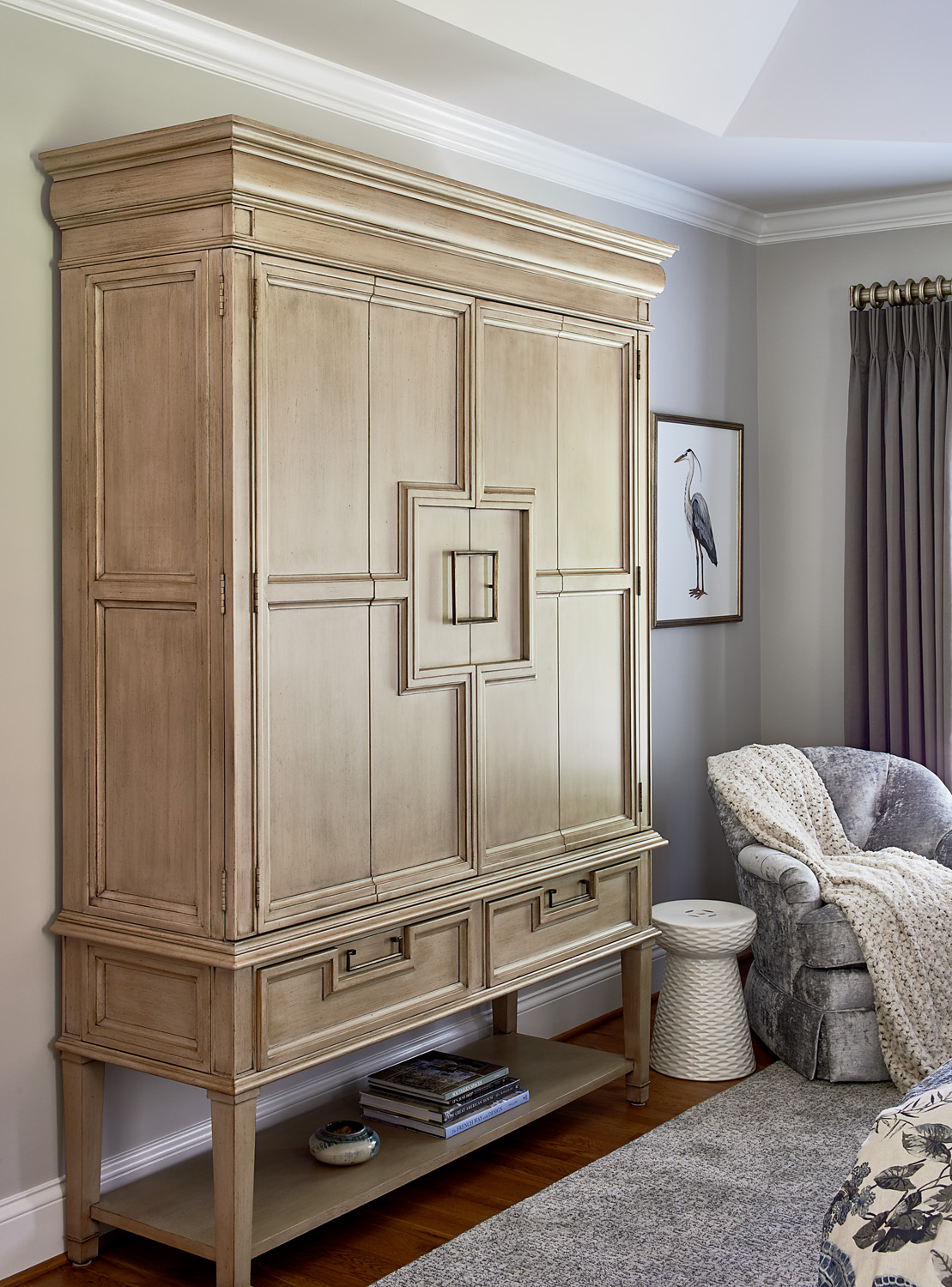 Large wardrobe with square door design