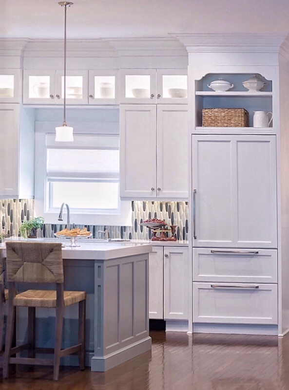 Ardrey kitchen remodel with white cabinets, quartz counters