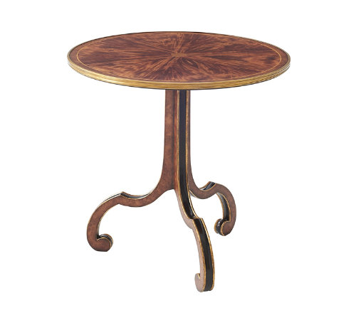 Vintage style round wooden table