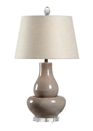 Modern lamp on white background