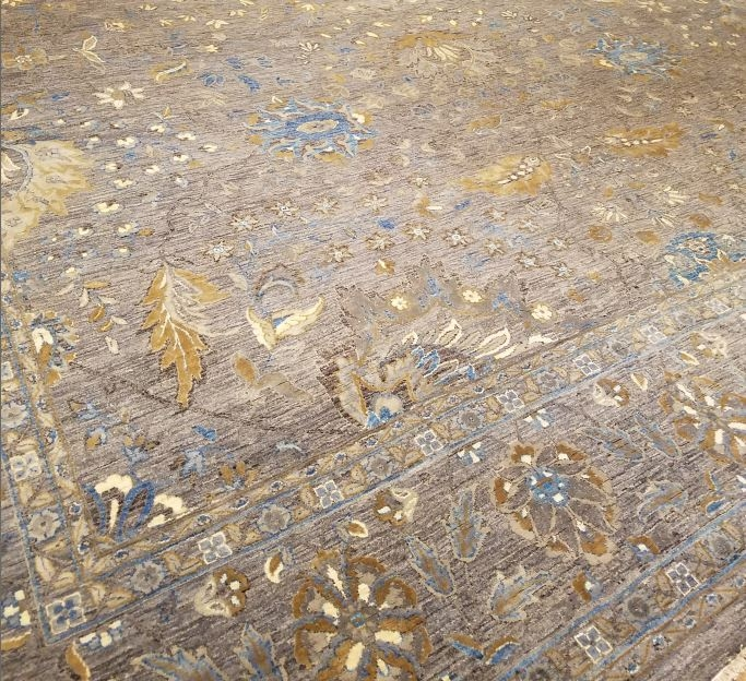 Hand-knotted floor rug