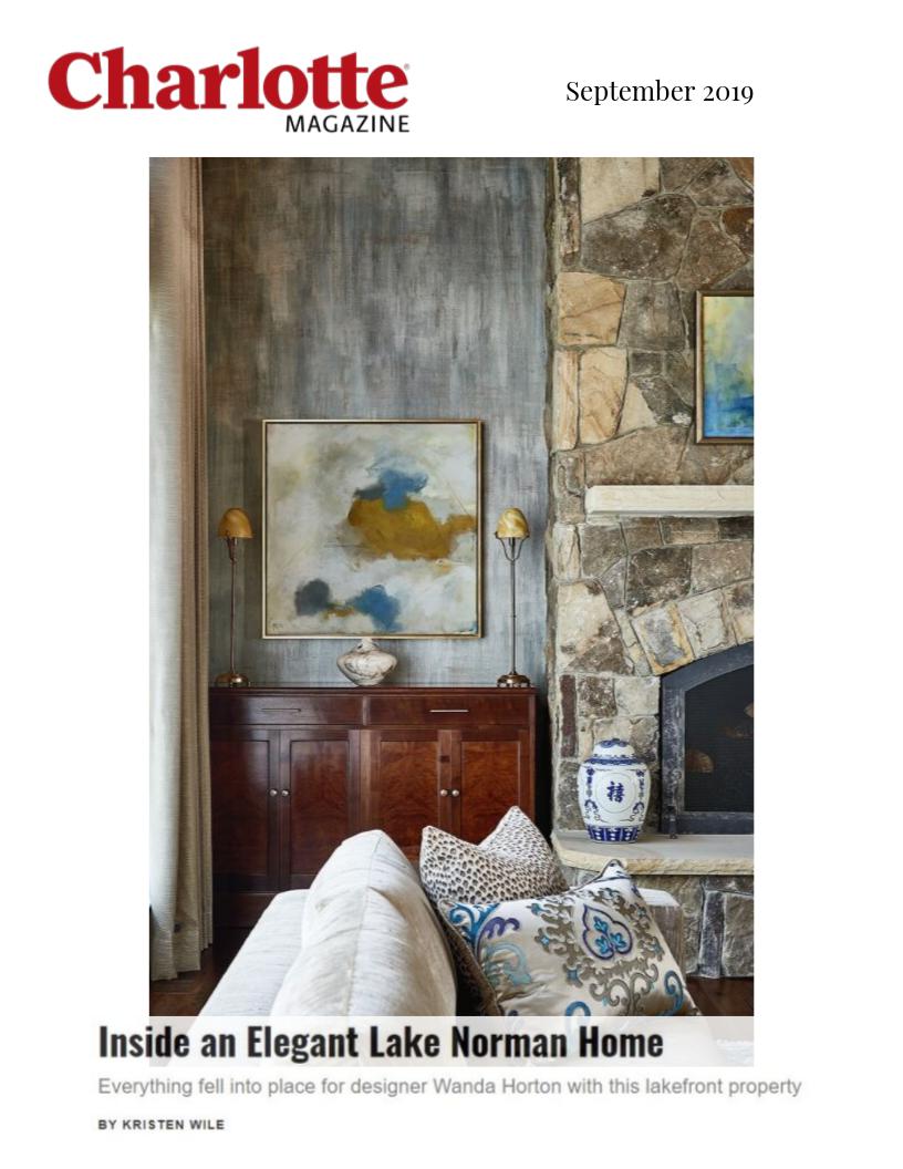 Charlotte Magazine - Elegant Lake House - Wanda S. Horton