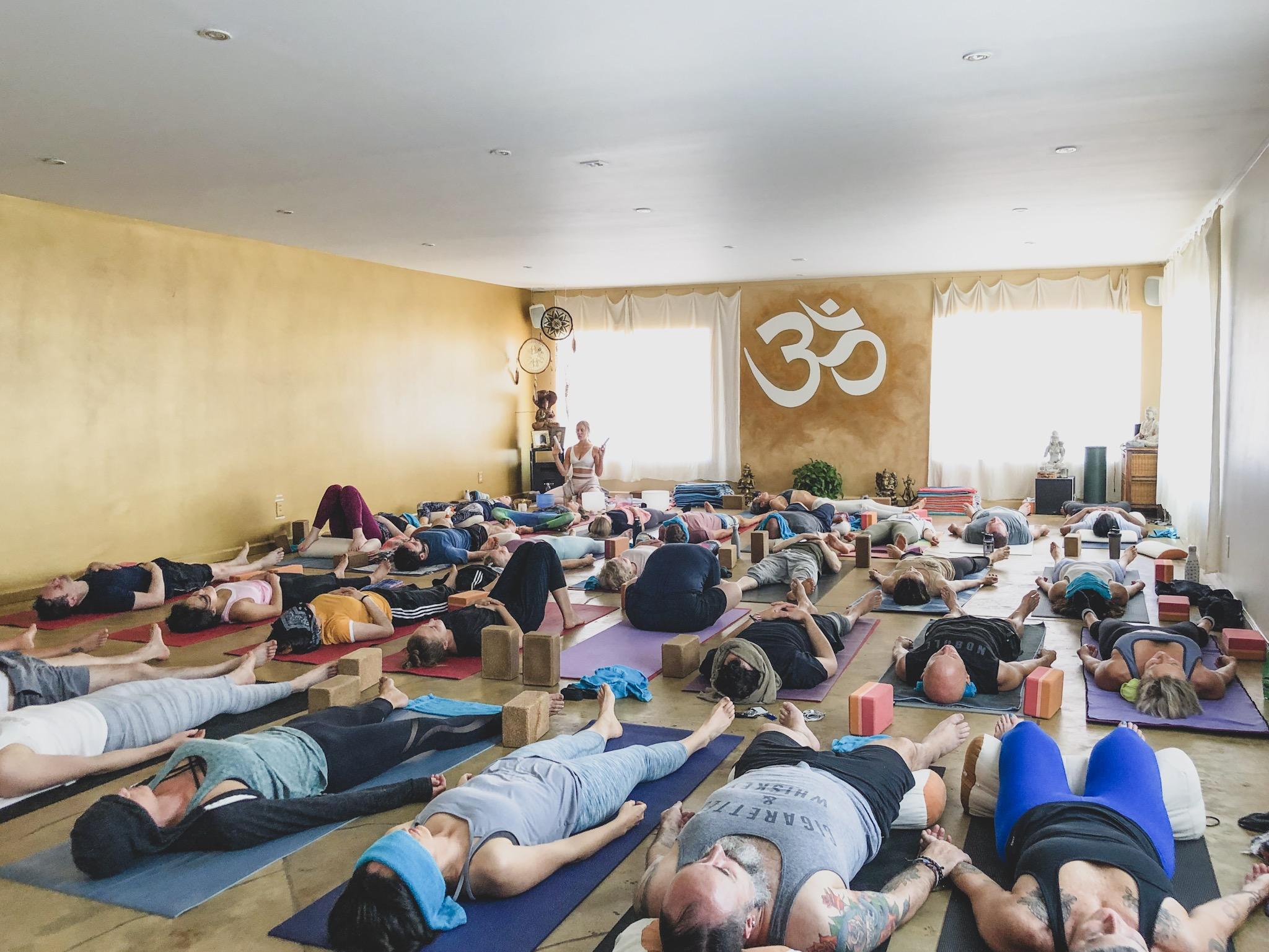 Yoga and Soundbath in the Yoga Nest at Venice Beach, CA