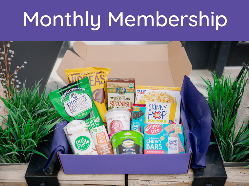 $39.99 Per month - CANCEL ANYTIMEDELICIOUS DAIRY FREE FOODS AND TREATSGUARANTEED TO HAVE A MAXIMUM OF ONE SOY ITEMEXCLUSIVE ACCESS TO DAIRY-FREE ONLINE COMMUNITYEXCLUSIVE ACCESS TO DAIRY-FREE COOKBOOK$5 FLAT RATE SHIPPINGORDER FROM THE 1ST-31ST AND RECEIVE YOUR BOX THE FIRST WEEK OF THE FOLLOWING MONTH