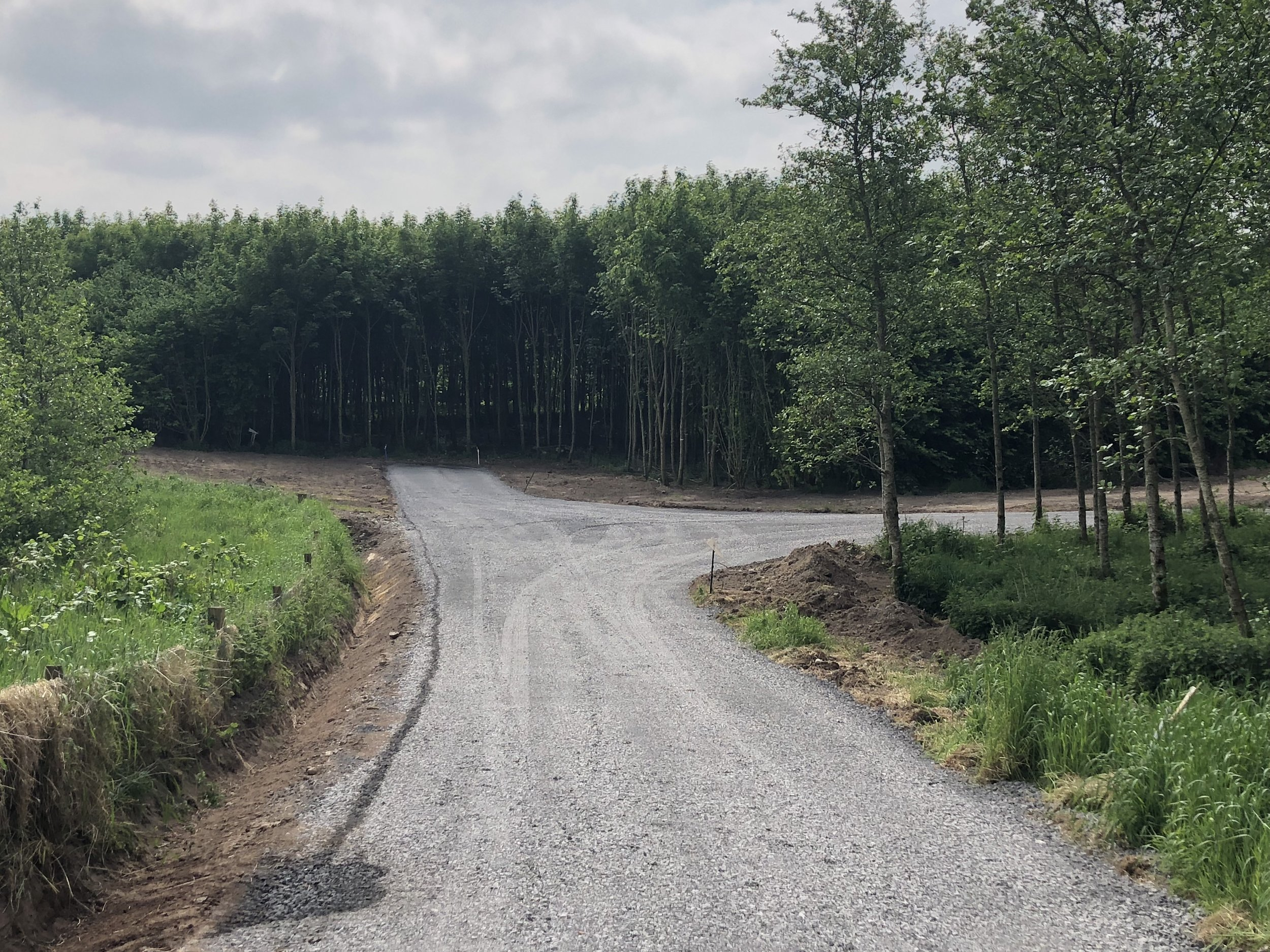 New Forest Road 1.5km for client near Mountrath, Co. Laois June 2018