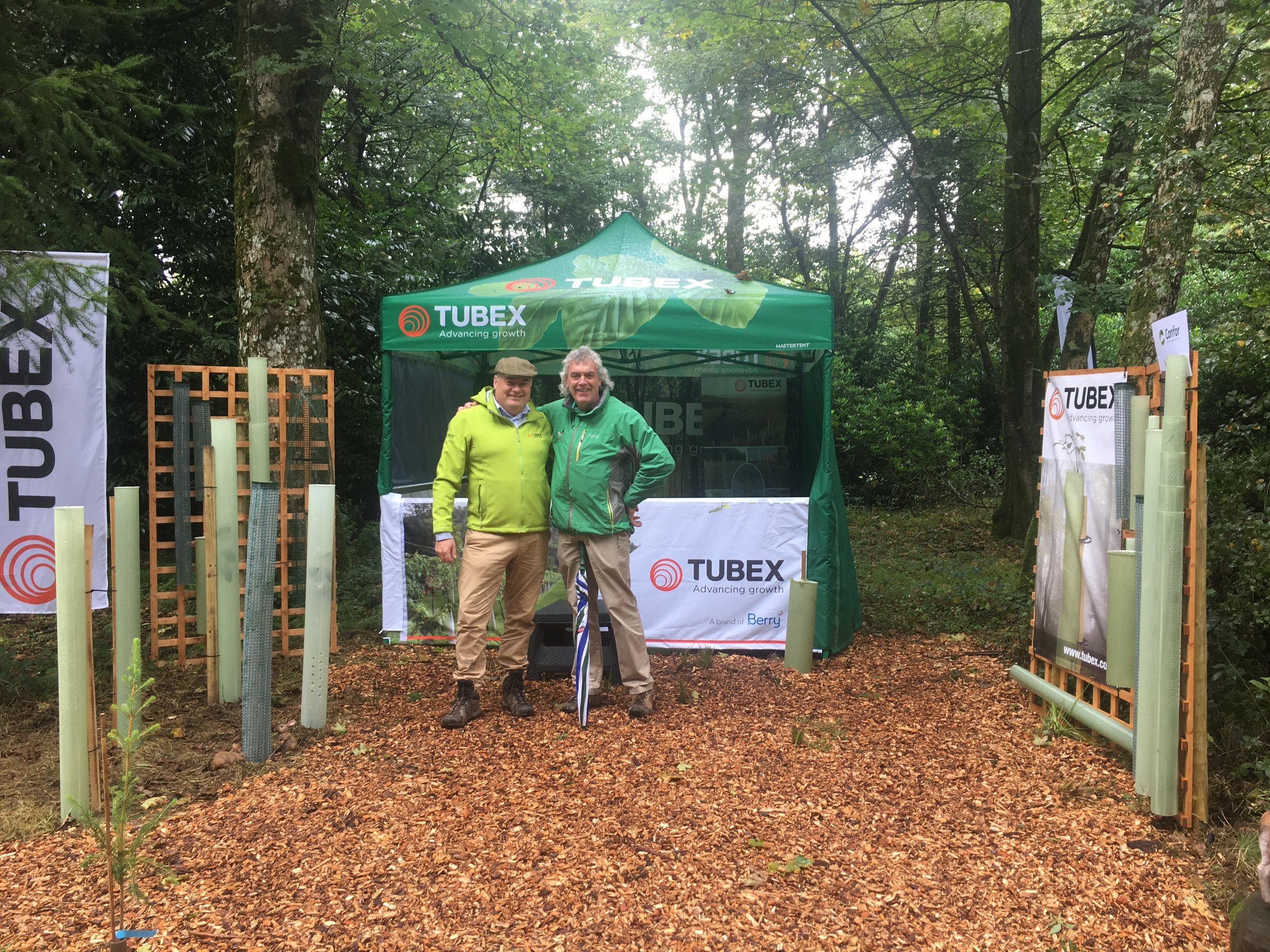 With Simon Place at the CONFOR Woodland Show in Longleat 2017 .