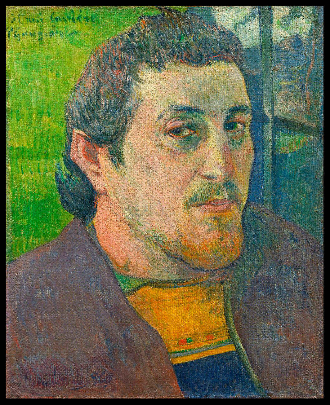 Paul Gauguin: self-portrait at Lezaven, 1888