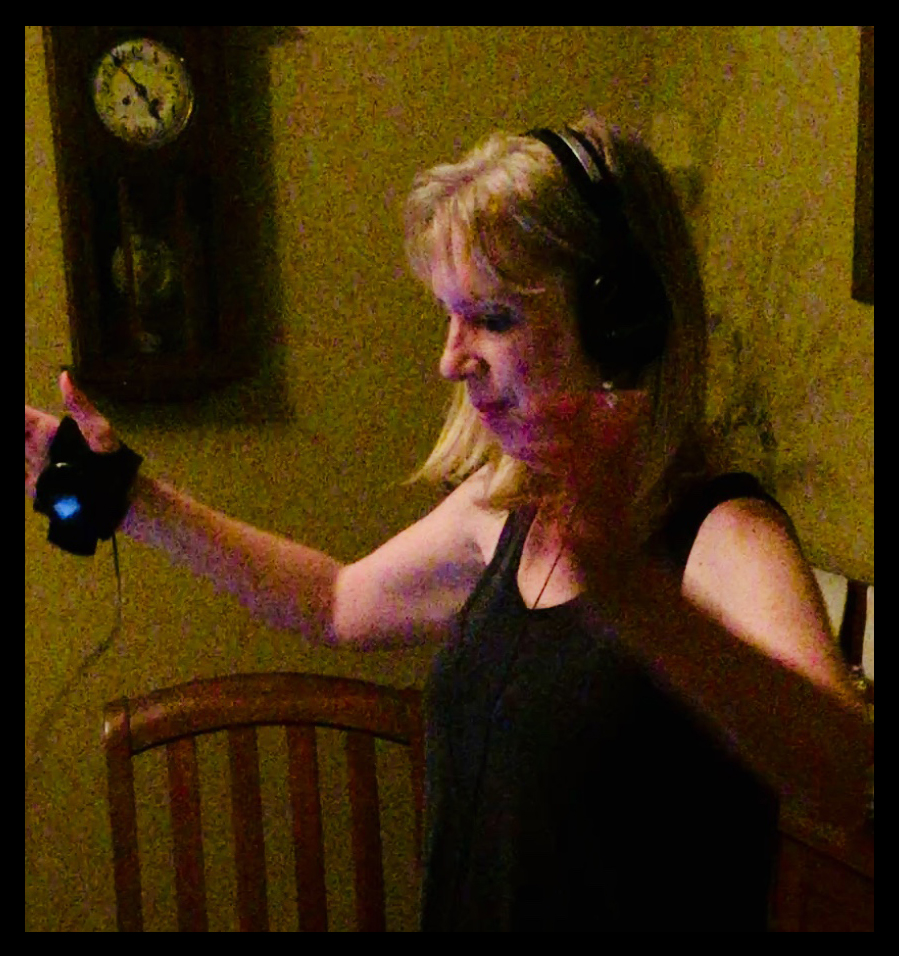 Diane using the Interactive Metronome.