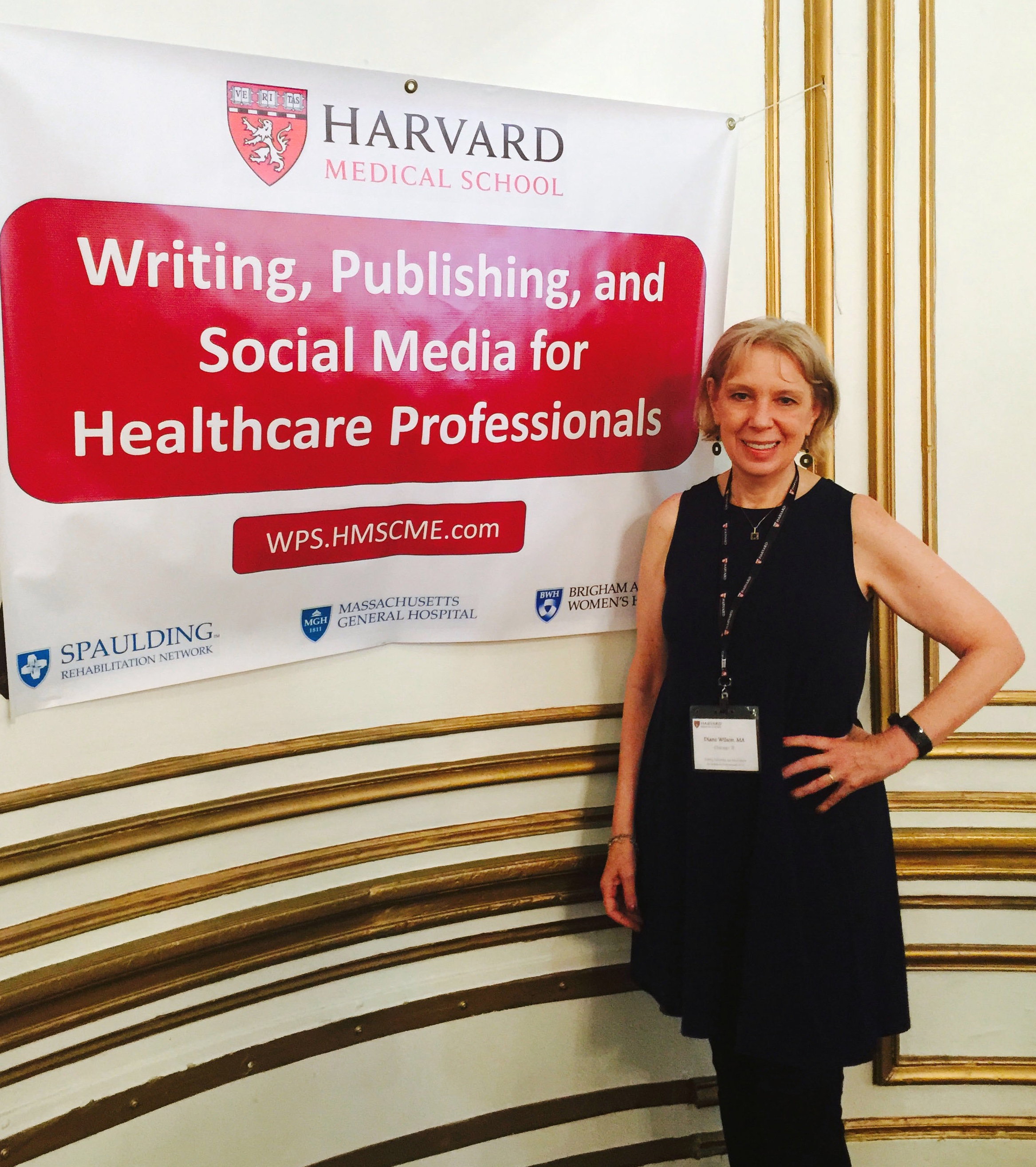 Diane attended a course on Writing, Publishing, and Social Media for Healthcare Professionals at Harvard University in June 2019.