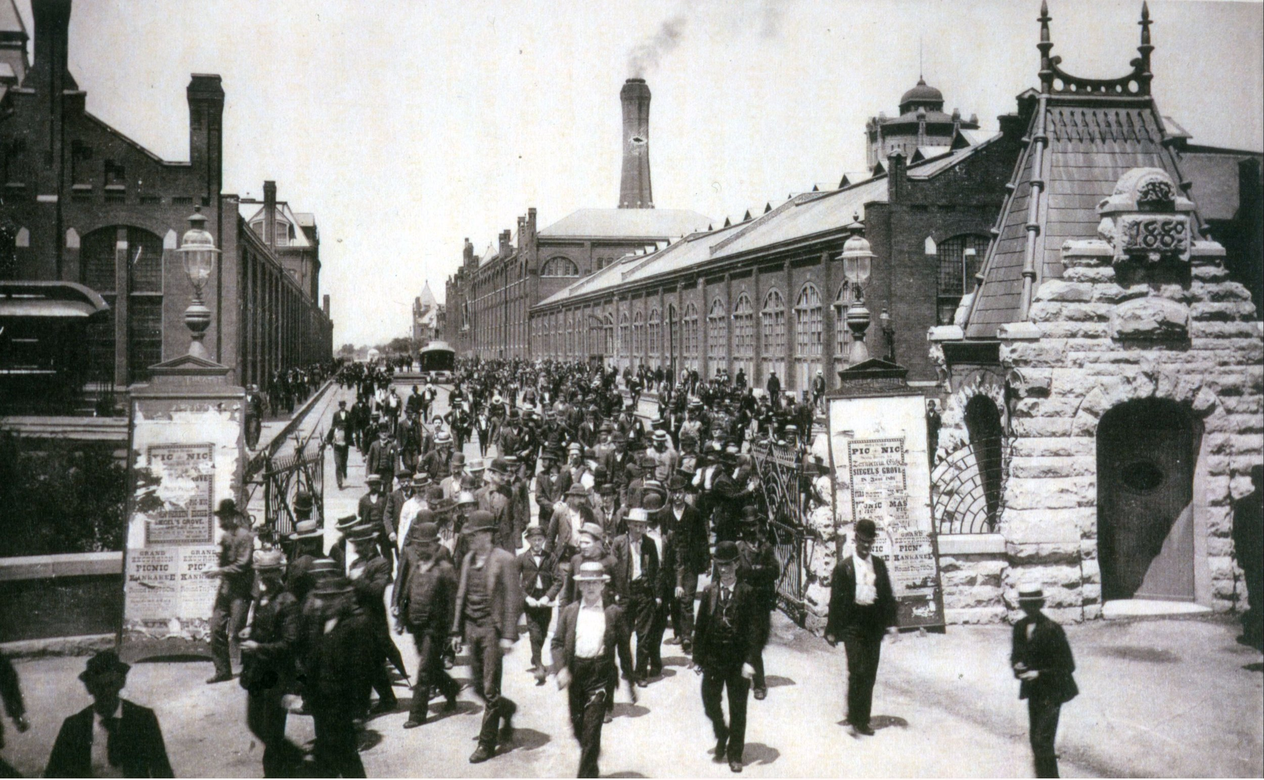 PULLMAN WORKERS LEAVING THE FACTORY