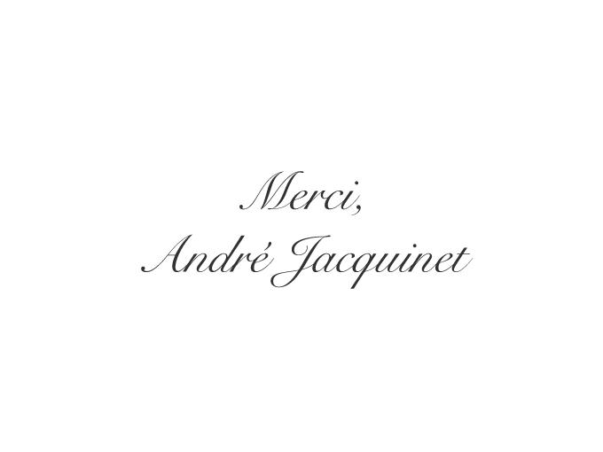 2018 'merci, andré jacquinet' 95% Garanoir x 5% regent