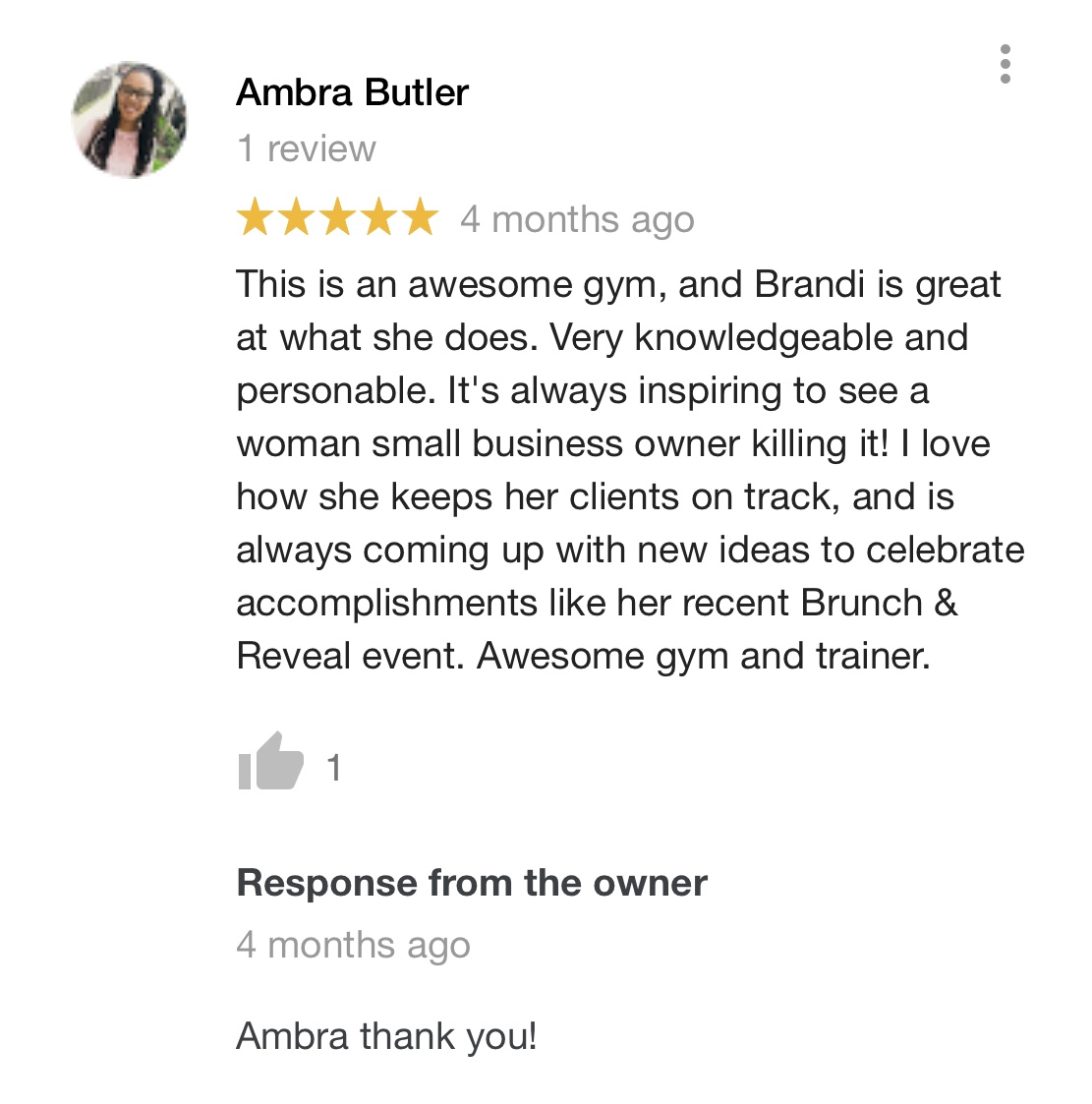 Review from Ambra