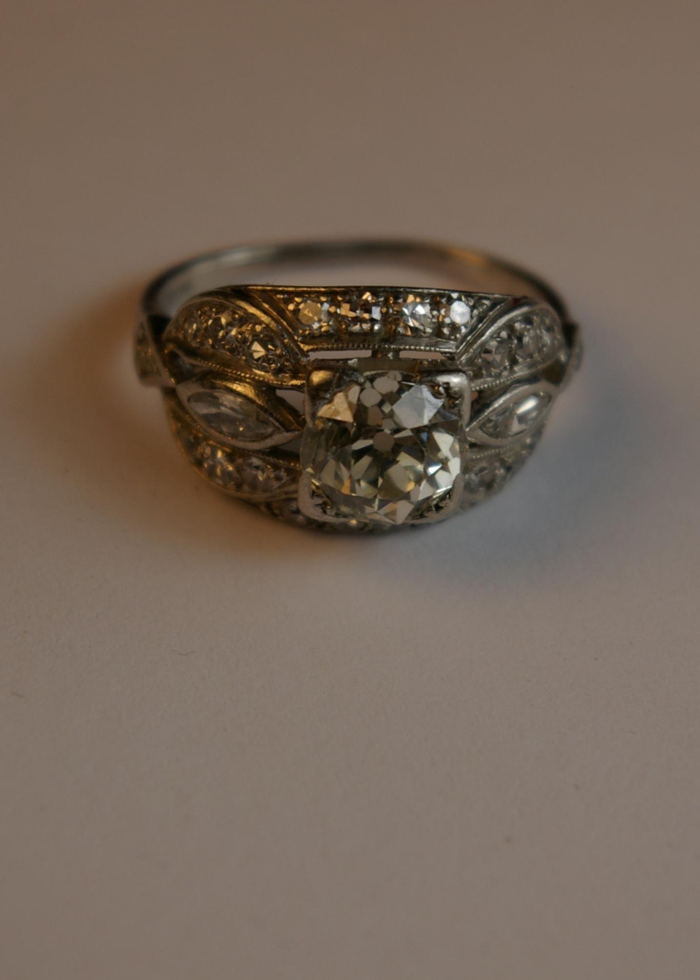 Damaged ring before restoration