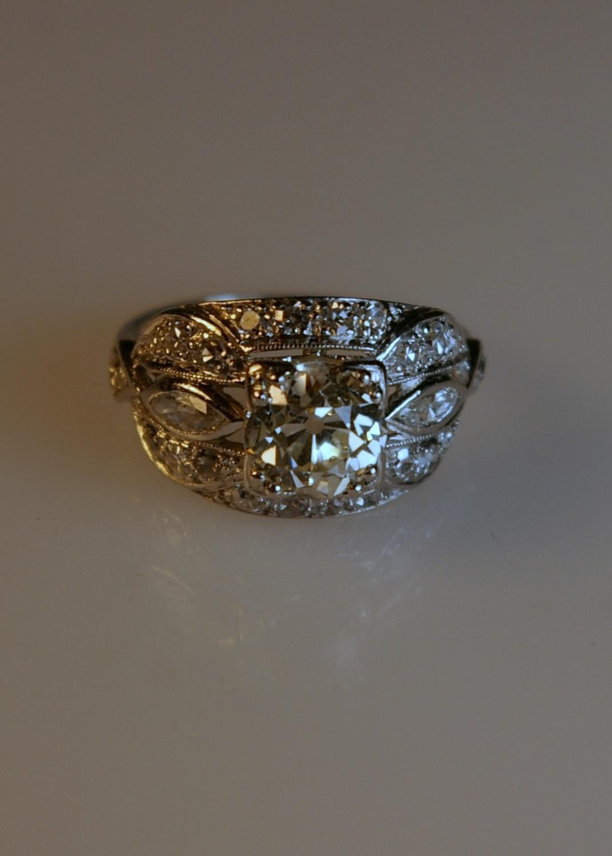 Damaged ring after restoration