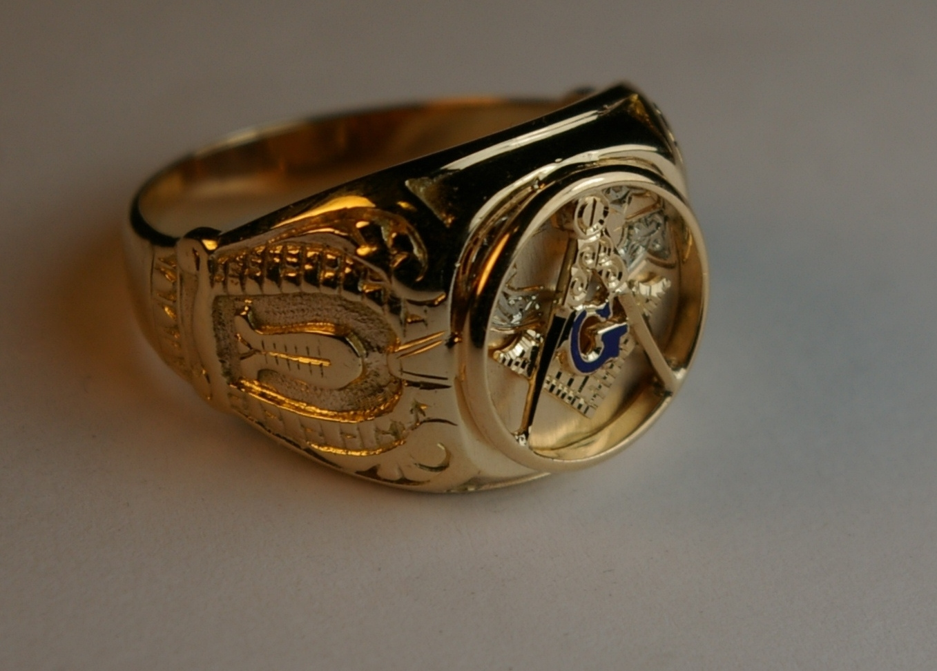 Masonic Ring after restoration