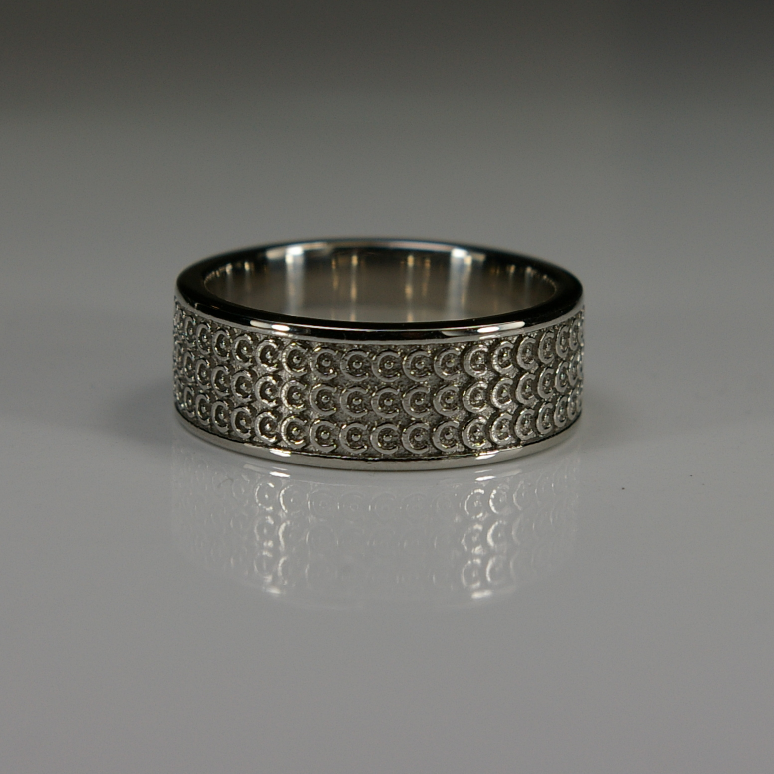 Platinum Viking Wedding Band