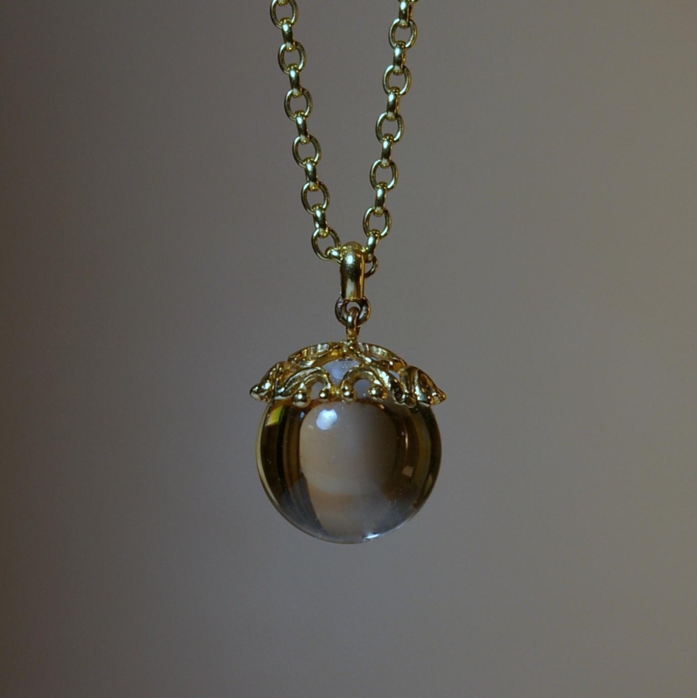 Crystal Ball with 20 Karat Yellow Gold custom design