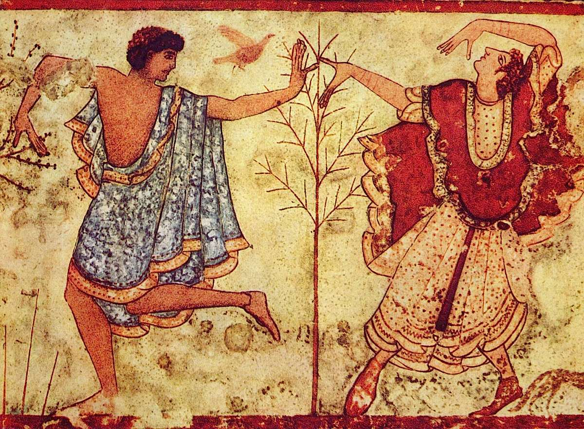 Etruscan Dancers at the Tomb of the Triclinium