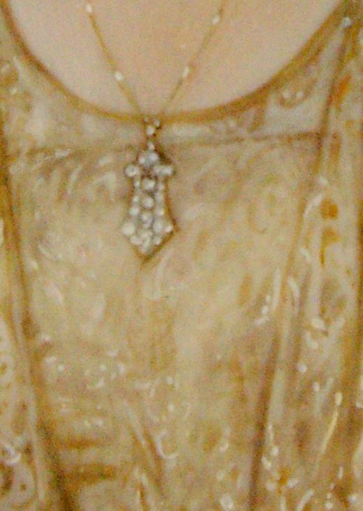 The restoration of an Edwardian Platinum Necklace at Crane jewelerrs  Miniature painting Close up.JPG