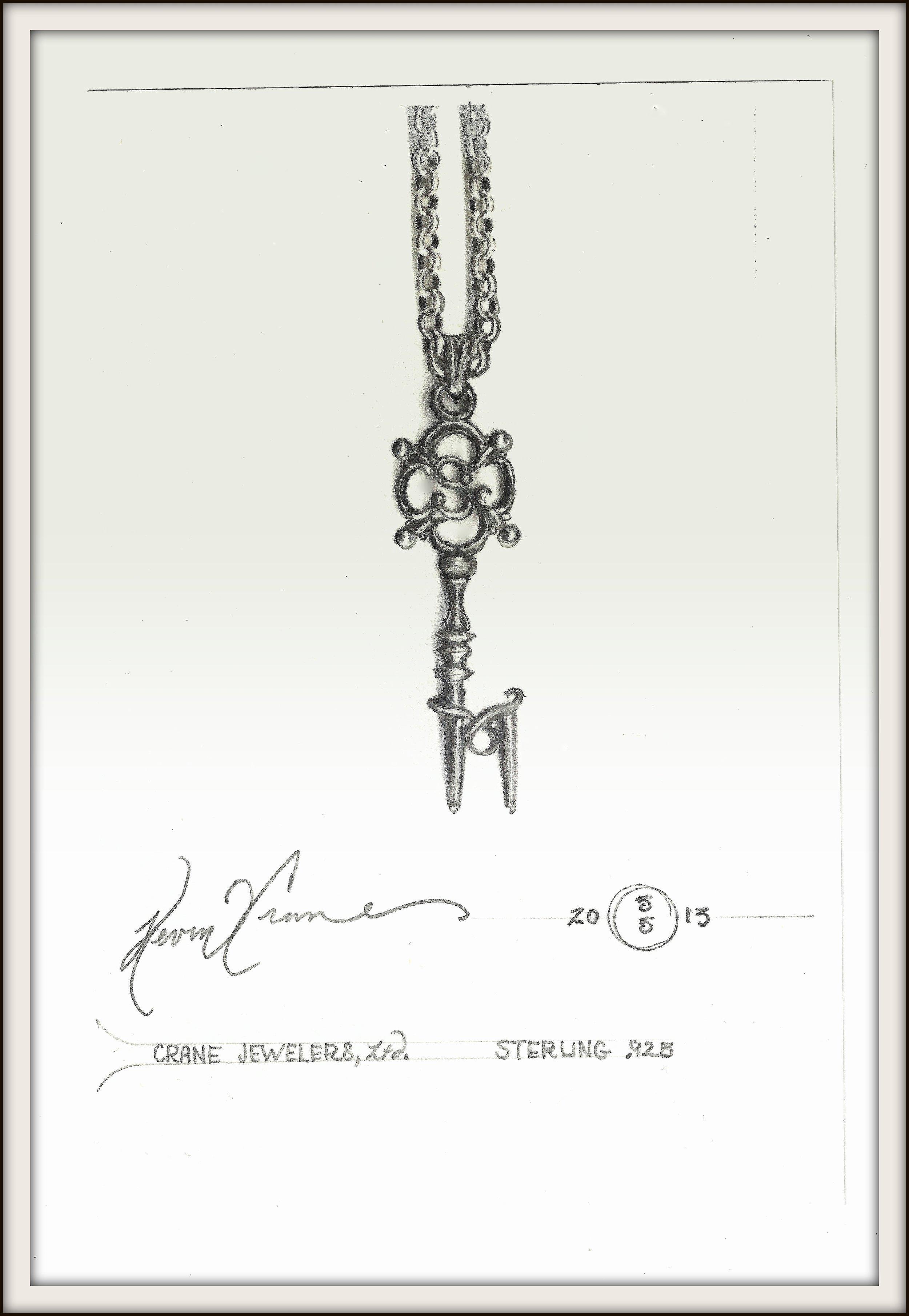 monogram key drawing