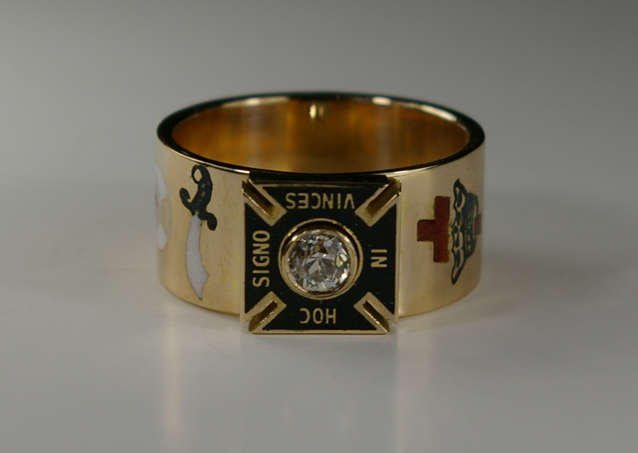 Masonic master ring post restoration