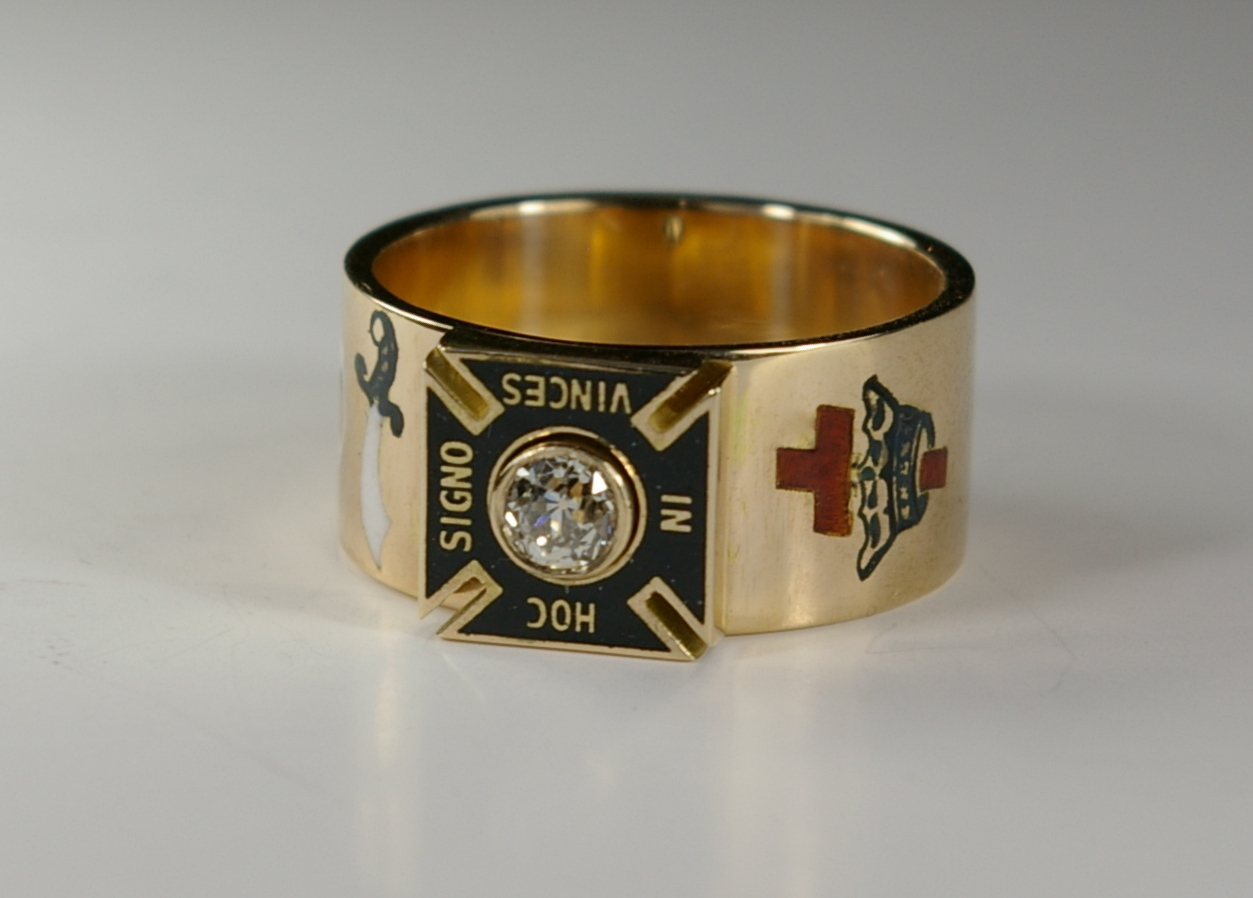 Masonic master ring Knights Templar post restoration