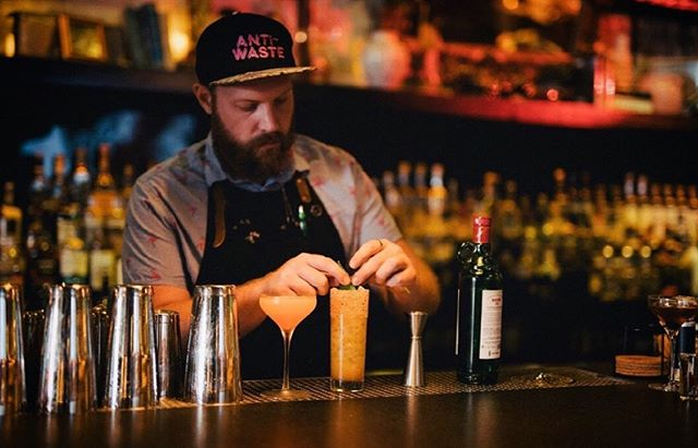 """For me, bartending became a career the day I learned how to balance a cocktail. Using boutique ingredients to create flavor, aroma and sensation is the purest outlet for creativity."" - @croquetasgratis 🌴🍹🥃🍸. . .  #lifeunderthepalms#thesylvesterbar#thesylvestermiami#lasala#miamifoodscene#miamieats#miamibars#midtownlounge#miamihappyhour#wynwoodbar"