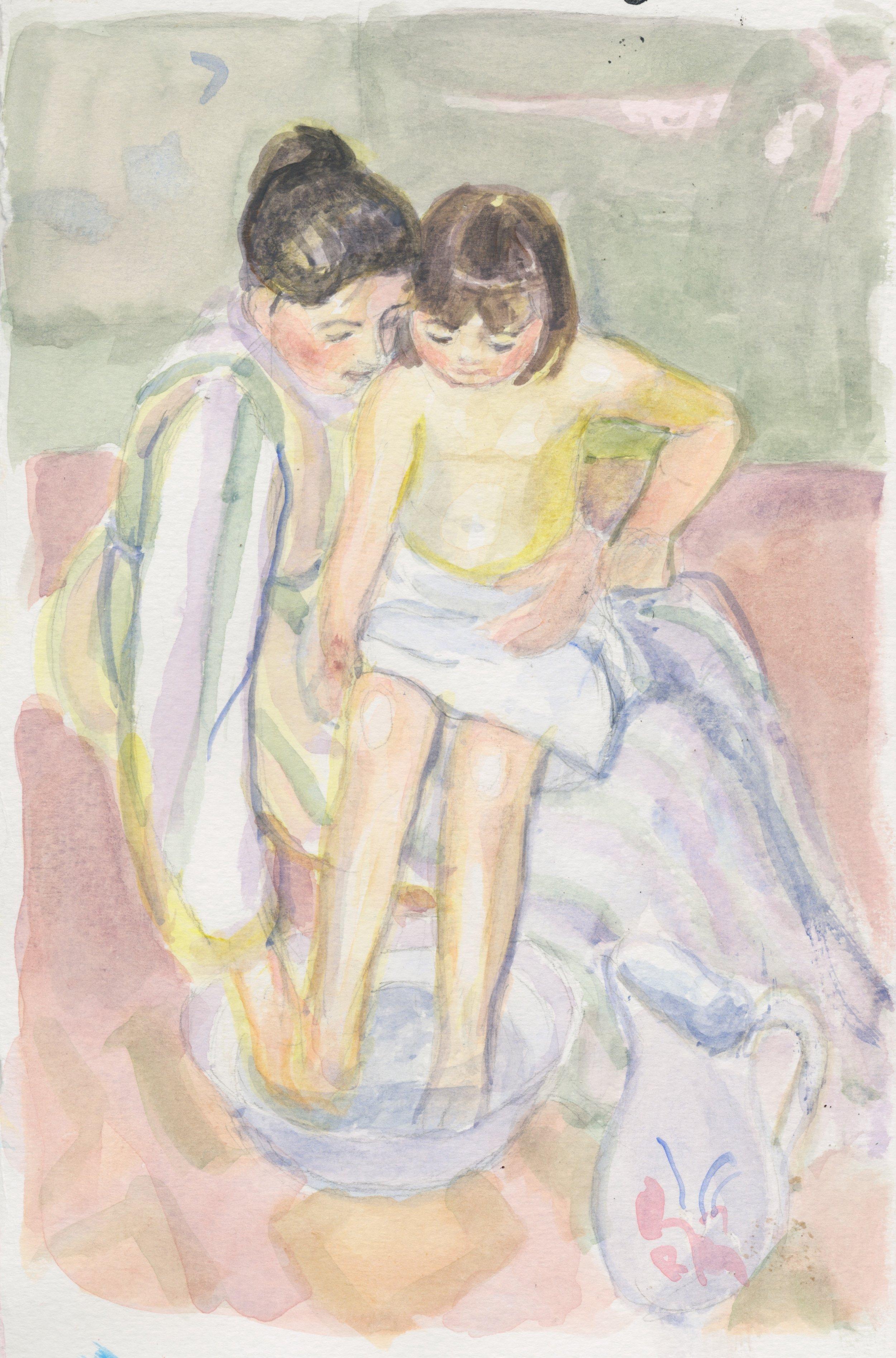 Study after Mary Cassatt