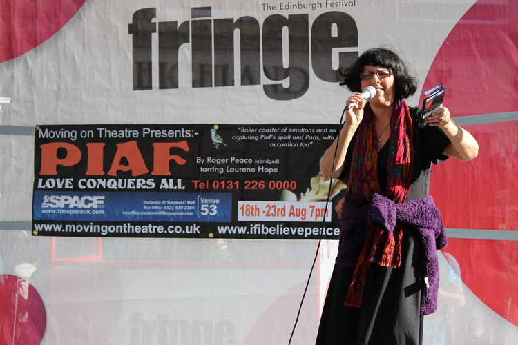 "Our sell out tour at Edingburgh festival 2014 with ""Piaf LOVE CONQUERS ALL"""