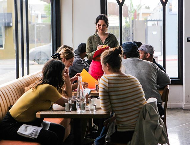 Come and snag your brunch seat @fiveleavesla  #brunch #fiveleaves #losangeles #cafe #bar #restaurant 📷 @jennymageephotography