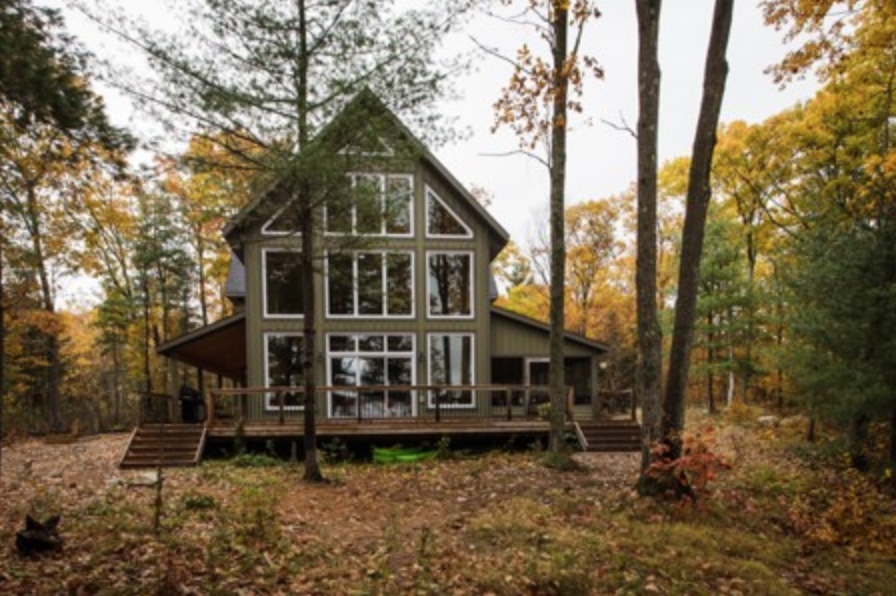 Big Gull Lake Cottage - Specs: White Pine Timber Frame| See More