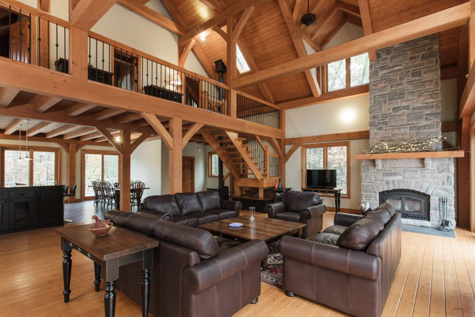 Eastern Ontario Cottage - Specs: Douglas Fir Timber Frame| See More