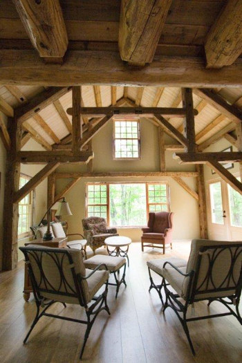 Sharbot Lake Cottage Road - 18x24 Timber Frame, Antique Hewn Timber| See More