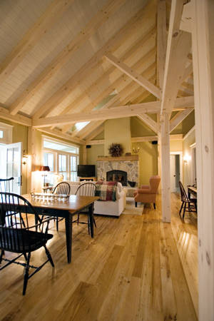 Rideau System - White Pine w/ White Wash Finish, King Post Truss Roof| See More