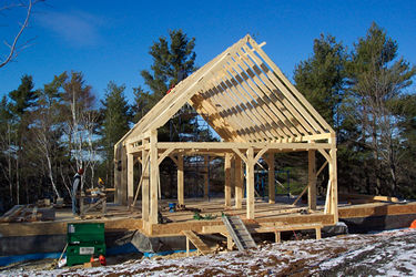 Fourteen Island Lake - 24x36 Timber Frame, Half Loft, Timber Rafters| See More