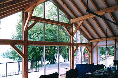 Loughborough Lake - 20x30 Timber Frame, Timber Rafters| See More