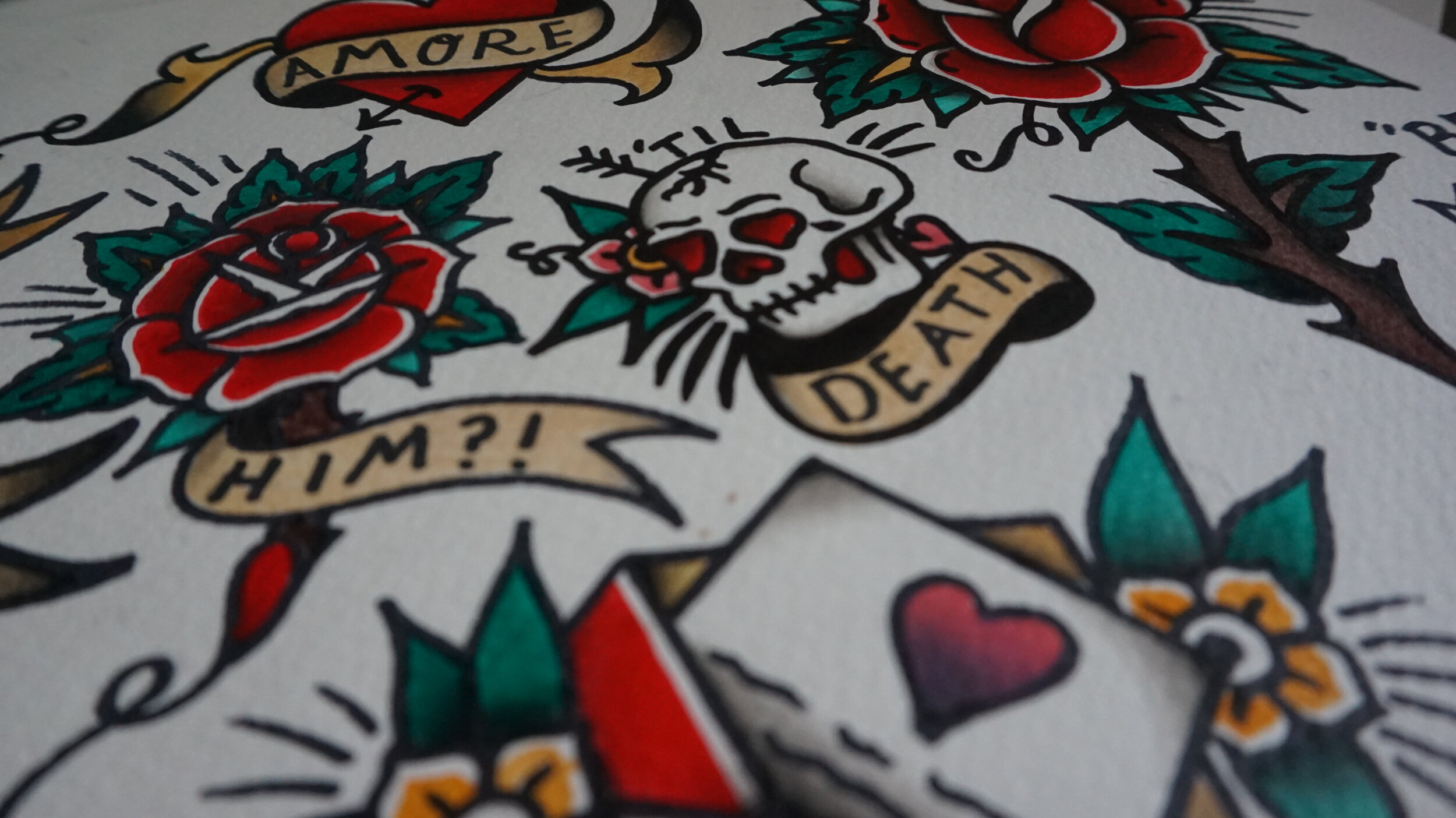 """""""What each tattoo is expressing is not really the interesting aesthetic value that's being communicated. Rather, what is interesting about a tattooed body in public is that the tattooed body says 'art is a democratic spectacle that has immediate, lasting impact on people's lives.' In other words, """"art has consequences."""" -"""