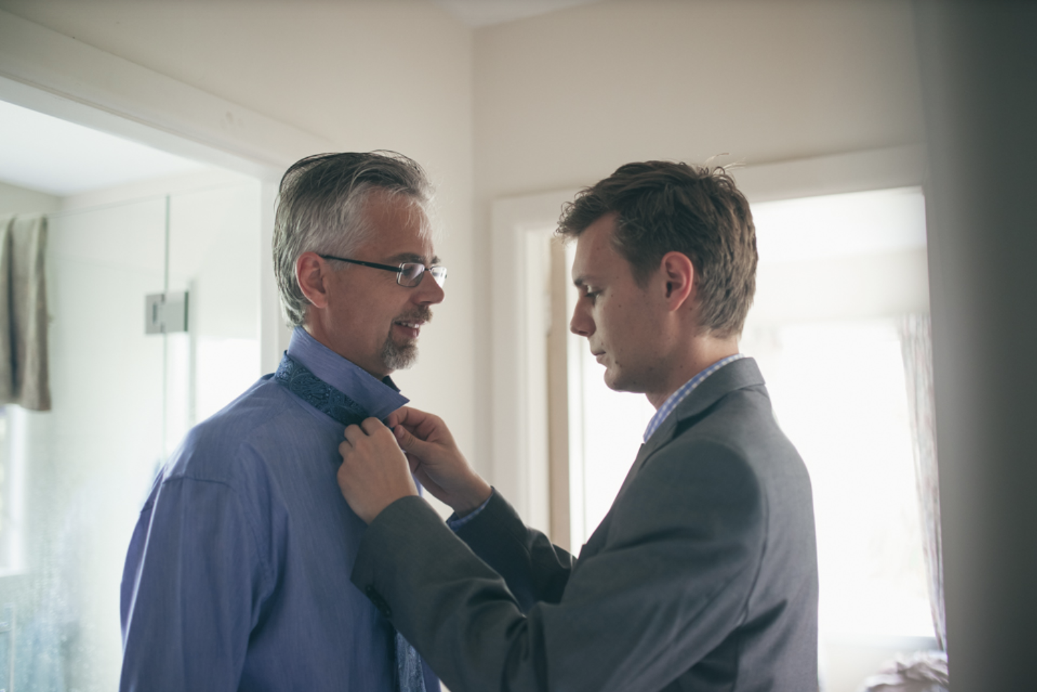 Here's a son about to lecture father about why his tattoos and father about to regret sending him to college. (I know I'm trans. I looked for daughter lectures dad on google and got the cultural equivalent of a 404 error.)