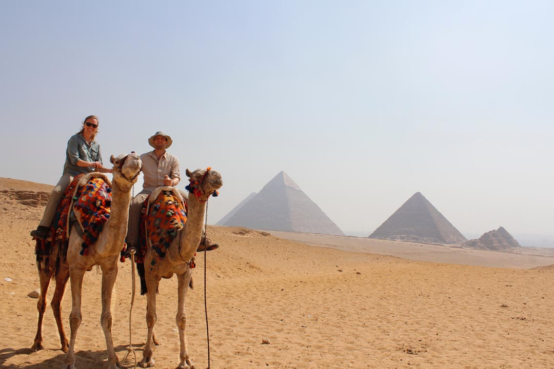 Camel ride in Egypt.