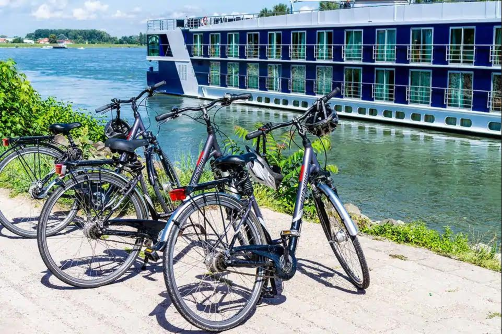 bicycles for touring on a river cruise