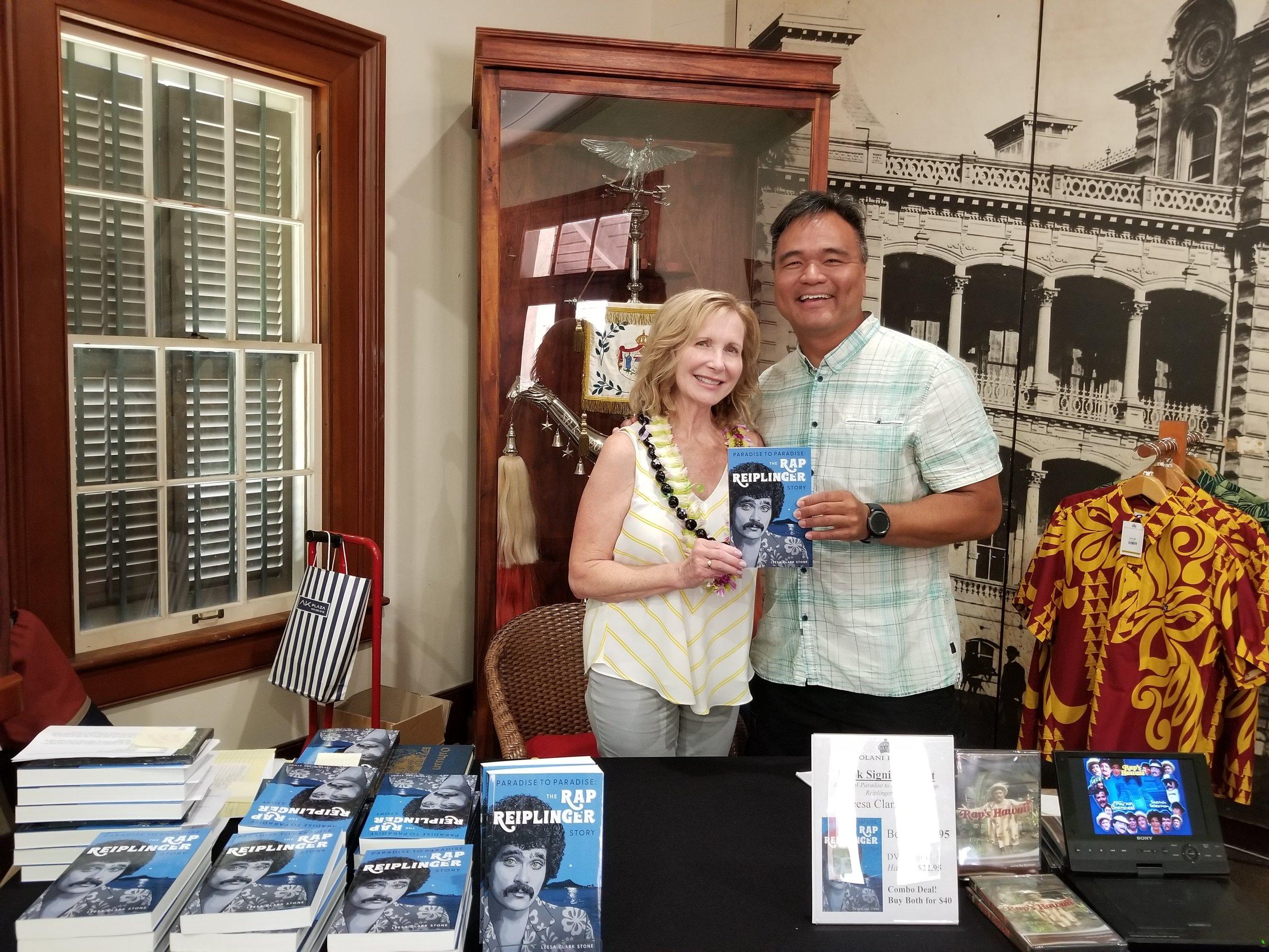 Actor Charlie Timtim at Iolani Palace book signing
