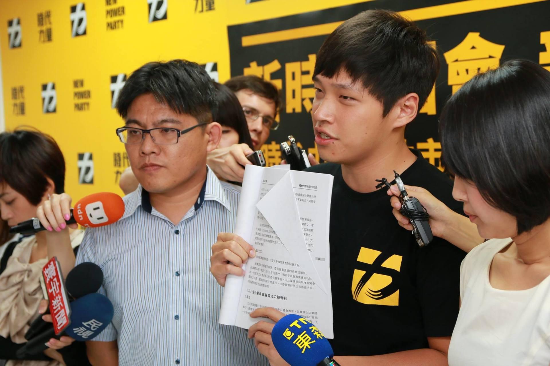 綠黨召集人王浩宇分析,時代力量在全台灣支持度最高的地方是由律師邱顯智任黨部主任委員的新竹市。圖片來源:時代力量/Facebook