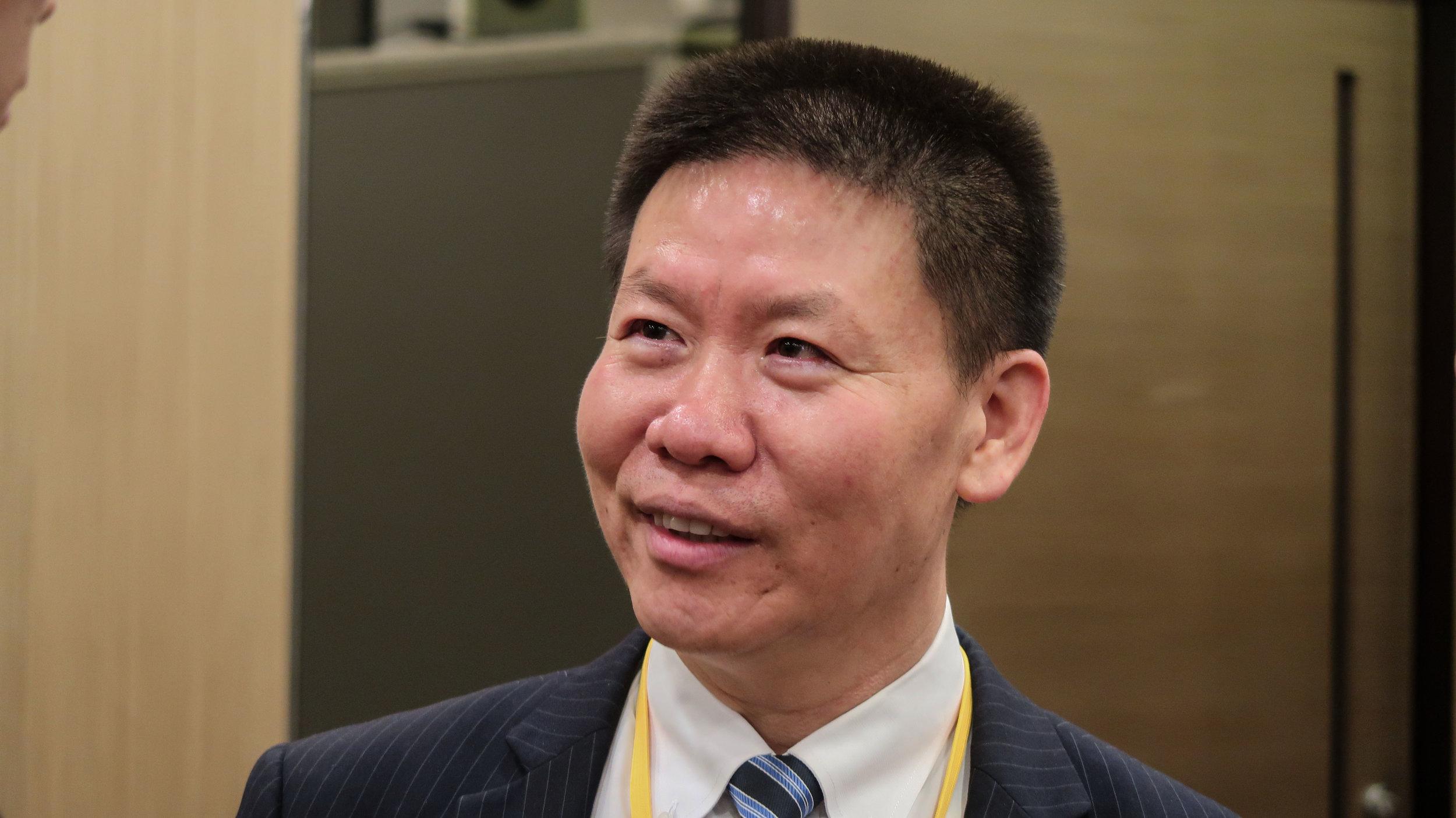 美國應對中國當前危機委員會委員傅希秋表示,民運人士封從德入境香港就被人帶走,已顯示香港開始法西斯化。攝:國際中心/眾報