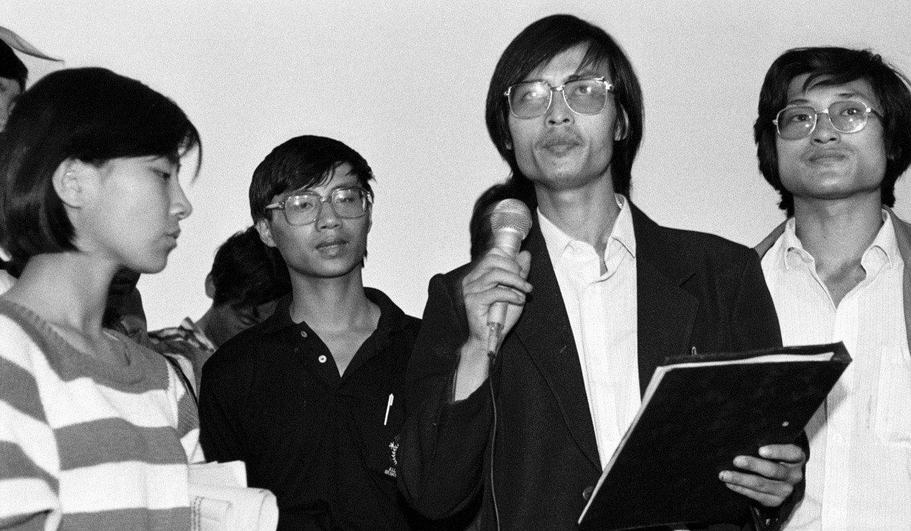 封從德(右二)是八九民運重要領袖之一。圖片來源:Reuters