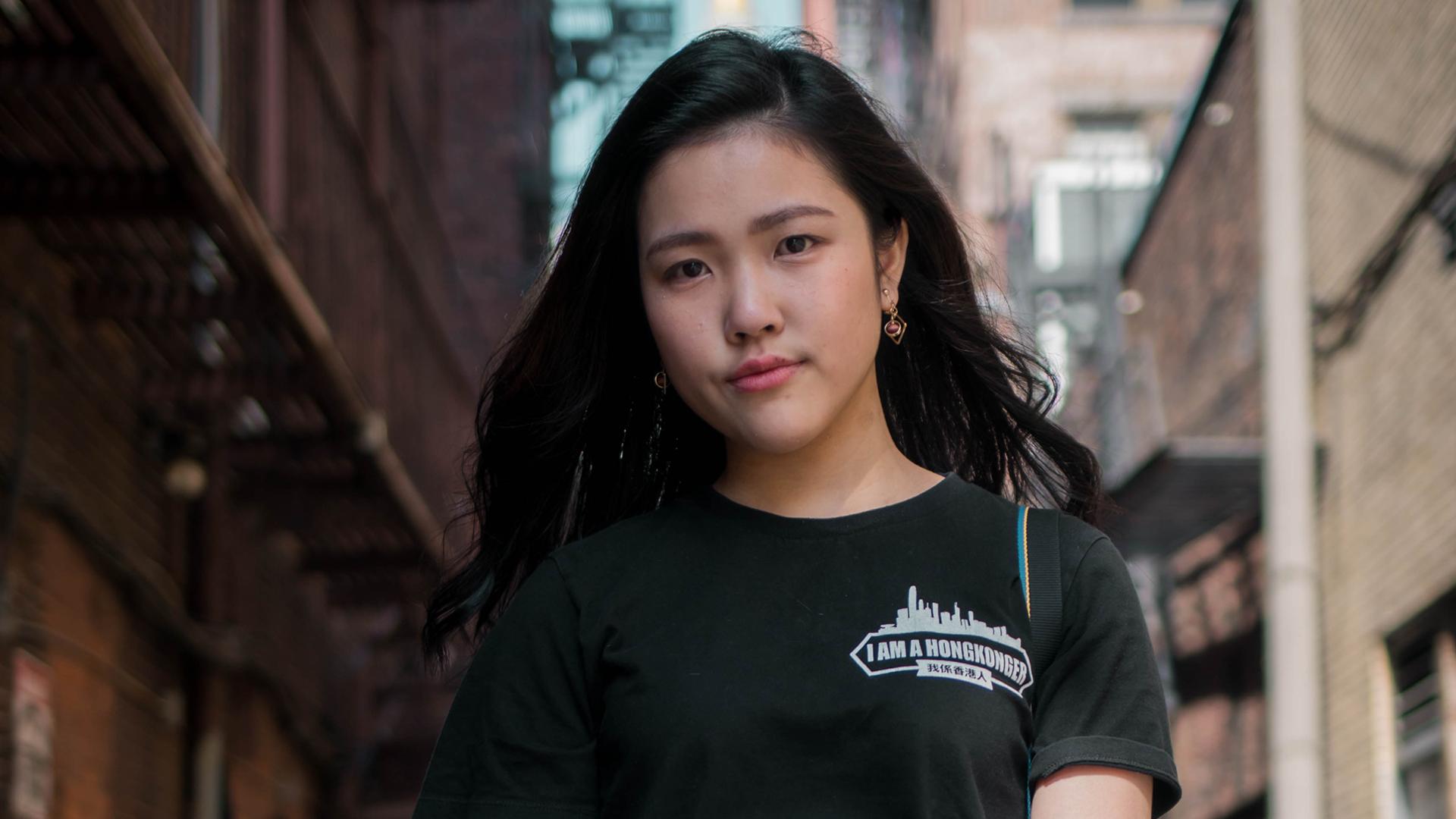 香港留美學生許穎婷日前登上《華盛頓郵報》。攝:Andrew Baicker/Frances Hui