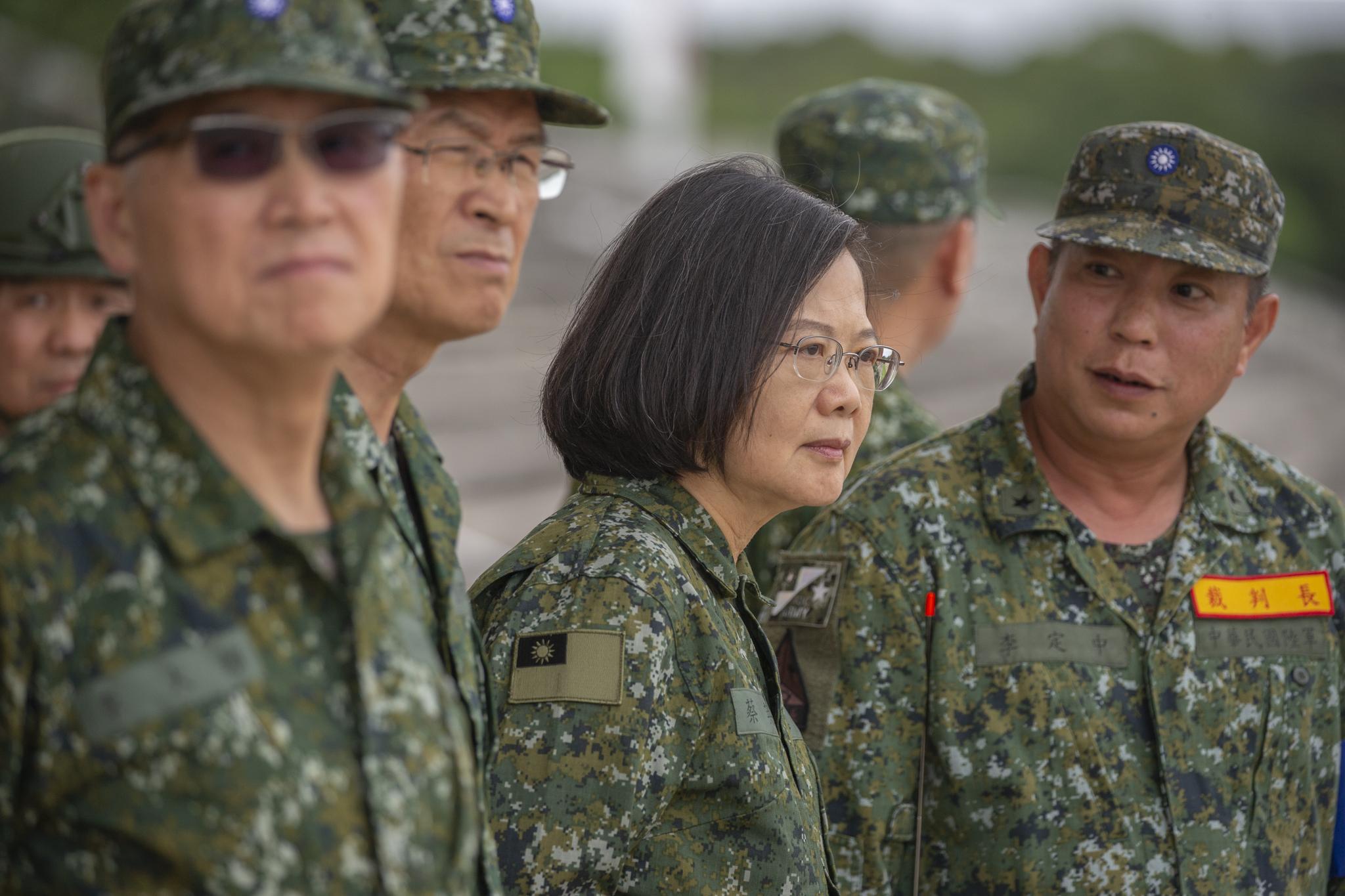 總統蔡英文積極爭取連任。圖片來源:Taiwan Presidential Office/Flickr